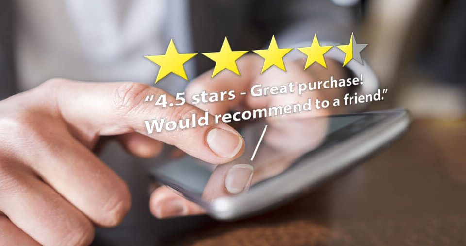 Importance of great reviews